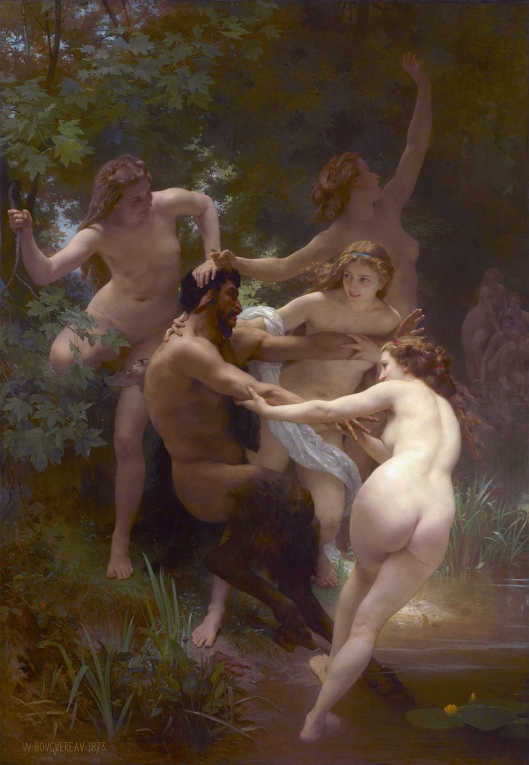 Bouguereau: Nymphs and Satyr