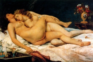 Courbet:  Sleep