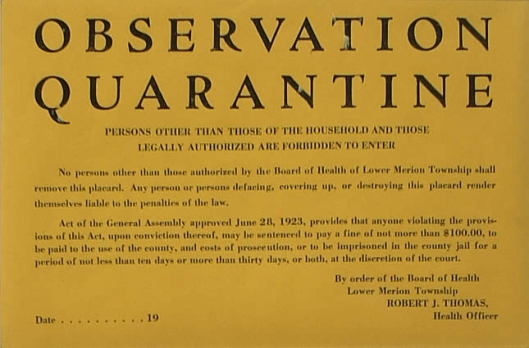 quarantine notice