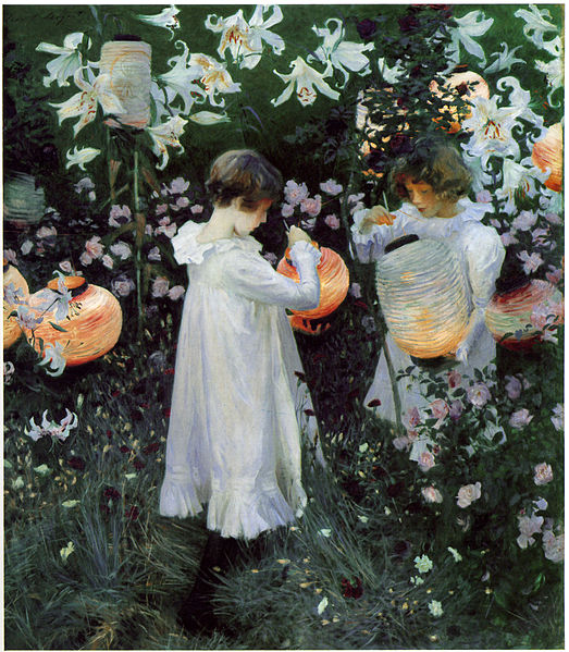 This rapture of childish innocence is the first painting Sargent offered after shocking the Paris Salon with his