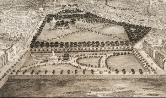 public garden aerial 1880